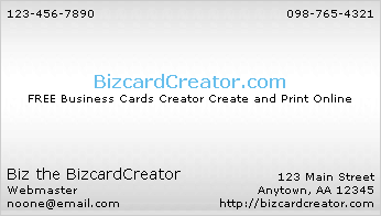 business card style 3